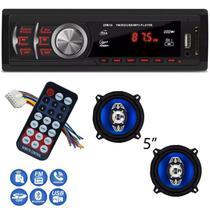 MP3 Rádio automotivo USB SD AUX +2x Alto falante 5 Polegadas - First option