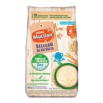 Mucilon Seleção Natureza 5 Cereais com Quinoa Zero Adição de Açúcares Sachê 180g -