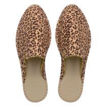 Mule loafer havaianas print bege -
