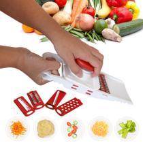 Multi Cortador 5 Em 1 Fatiador Mandolin Ralador Legumes INDISPENSÁVEL Cozinha prática - Keita