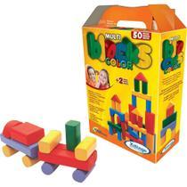 MultiBlocks  Coloridos com 50 peças em madeira - Xalingo -