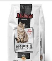 Multicat Premium Gatos Castrados Frango  com Arroz 10kg - Nutridog