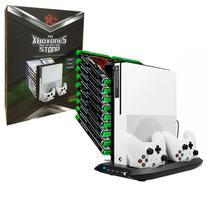 Multifuncional Suporte Cooler Carregador HuB Usb Stand Para Xbox One S KJHXBOXONES-03 -