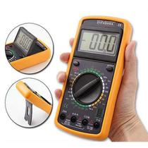Multímetro Digital C/capacímetro Profissional + Bip + Brinde - Industria nacional