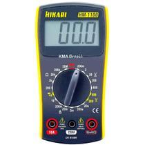 Multímetro digital display lcd - hikari hm-1100 - cat iii 600v -