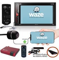 "Multimídia 2 Din Pioneer AVH-A218BT Tela 6,2"" Bluetooth USB + Câmera de Ré + Receptor Sintonizador TV Digital -"