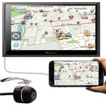 "Multimídia 2 Din Pioneer DMH-Z6380TV Tela 6.8"" TV Digital Bluetooth USB + Câmera Ré -"