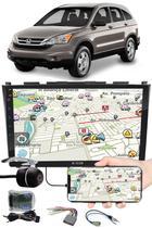 """Multimídia 9"""" Polegadas Honda CRV 2008 à 2011 Espelhamento USB Bluetooth + Moldura Painel + Interface Volante + Chicotes + Câmera de Ré - H-Tech / Expex"""