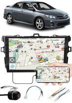 """Multimídia 9"""" Polegadas Toyota Corolla 2009 à 2014 Espelhamento USB Bluetooth + Moldura Painel + Chicotes + Câmera de Ré - Expex"""