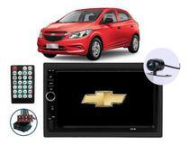 Multimídia Chevrolet Onix 2013 2014 2015 2016 2017 2018 Espelhamento Andoid Ios Bluetooth Câmera Ré - G7shop