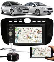 Multimídia Fiat Punto 2012 à 2016 Linea 2016 2017 Com Espelhamento + Câmera Ré - E-Tech