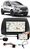 Multimídia Ford Ecosport 2018 2019 2020 2021 Espelhamento Bluetooth USB SD Card + Moldura + Chicotes + Câmera Ré - E-Tech / Tiger / H-Tech