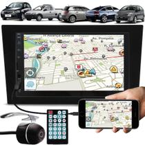 Multimídia Gm Corsa Montana Vectra Meriva Espelhamento Bluetooth USB SD Card + Moldura + Câmera Ré - E-Tech / Tiger / H-Tech