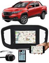 """Multimídia MP5 Fiat Strada 2020 2021 7"""" Polegadas Espelhamento Bluetooth USB SD Card + Câmera de Ré - Ludovico + E-Tech / Tiger / H-Tech"""