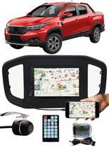 """Multimídia MP5 Fiat Strada 2020 2021 7"""" Polegadas Espelhamento Bluetooth USB SD Card + Interface Volante + Câmera de Ré - Ludovico+E-Tech-Tiger-H-Tech"""