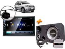 Multimídia Mp5 Ford Ecosport + Câmera + Moldura + Caixa Trio + Modulo Taramps - Oestesom