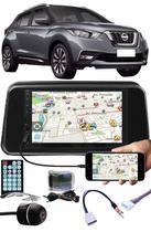 Multimídia Nissan Kicks PCD Espelhamento Bluetooth USB SD Card + Interface Volante + Moldura + Chicotes + Câmera Ré - E-Tech / Tiger / H-Tech