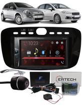 Multimídia Pioneer DMH-G228BT Fiat Punto 2012 à 2016 Linea 2015 à 2017 Interface Comando Volante + Câmera Ré -
