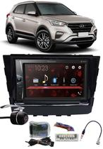 Multimídia Pioneer DMH-G228BT Hyundai Creta Bluetooth USB + Moldura + Interface Volante + Chicotes + Câmera Ré -