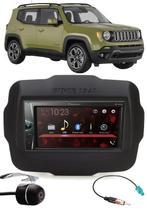 Multimídia Pioneer DMH-G228BT Jeep Renegade PCD Bluetooth USB + Moldura + Chicote Adaptador Antena + Câmera Ré -