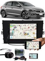 Multimídia Tiger Vw Novo Polo 2018 2019 2020 Bluetooth Espelhamento Android IOS Interface Comando Volante + Câmera Ré -