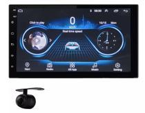 Multimidia Universal Android 9.0 2gb de RAM GPS Wifi Espelhamento + Câmera de ré - Original
