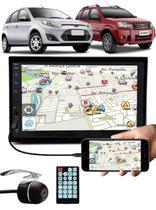 Multimídia Vw Fiesta Ecosport Espelhamento Bluetooth USB SD Card + Moldura + Câmera Ré - E-Tech / Tiger / H-Tech