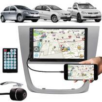 Multimídia Vw Gol Voyage Saveiro G5 2009 à 2013 Espelhamento Bluetooth USB SD Card + Moldura + Câmera Ré - E-Tech / Tiger / H-Tech