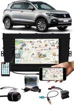 Multimídia Vw T-Cross PCD Bluetooth Espelhamento Android IOS Interface Comando Volante + Câmera Ré - Tiger Auto