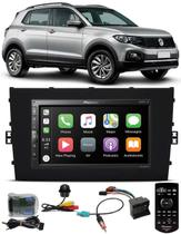 Multimídia Vw T-Cross PCD Pioneer DMH-ZS5280TV Tv Digital Bluetooth Interface Comando Volante + Chicotes + Câmera Ré Tartaruga -