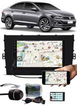 Multimídia Vw Virtus Tiger Bluetooth Espelhamento Android IOS Interface Comando Volante + Câmera Ré -