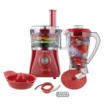 Multiprocessador com Liquidificador Philco All In One Citrus Vermelho 800w 220v