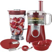 Multiprocessador Philco All in One + Citrus com Liquidificador Vermelho 800w 220v