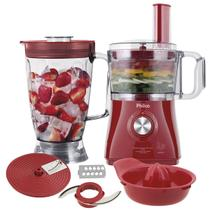 Multiprocessador Philco All In One Citrus Vermelho 800W