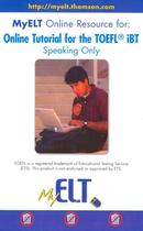 My elt online resource for: online tutorial for the toefl ibt - speaking only - National Geographic & Cengage Elt