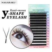 Nagaraku Cilios para Volume Brasileiro D 10mm Y-Shape Eyelashes -
