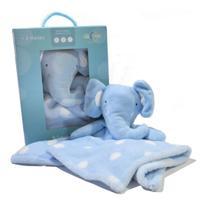 Naninha Com Bichinho de Pelúcia - Elefantinho - Azul - Loani -