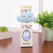 Naninha Nuvem Azul Com Prendedor De Chupeta - IMPÉRIO DO BEBÊ