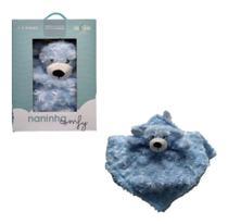 Naninha Para Bebê Bichinho De Pelúcia Comfy Azul - Loani -