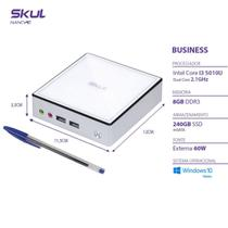Nano Computador Business B300 - I3 5010u 2.1ghz Mem 8gb Ddr3 Sodimm Ssd 240gb Wi-fi Fonte Externa Wi - SKUL