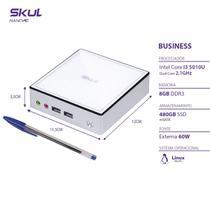 Nano computador business b300 - i3 5010u 2.1ghz mem 8gb ddr3 sodimm ssd 480gb wi-fi fonte externa linux - SKUL