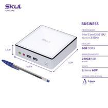 Nano Computador Business B300 - I3 5010u 2.1ghz Mem 8gb Ddr3 Ssd 240gb Wi-fi Fonte ExterLinux - Skul -