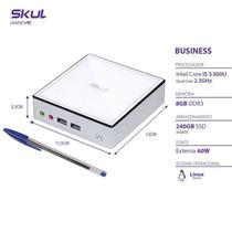 Nano Computador Business B500 - I5 5300u 2.3ghz Mem 8gb Ddr3 Sodimm Ssd 240gb Wi-fi Fonte Externa Linux - Skul