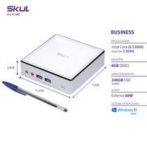 Nano Computador Business B500 - I5 5300u 2.3ghz Mem 8gb Ddr3 Sodimm Ssd 240gb Wi-fi Fonte Externa Wi - SKUL