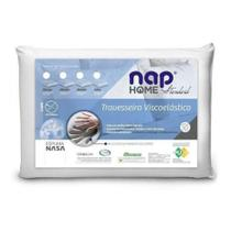 Nap Travesseiro Viscoelastico Nap Home Standart Espuma Nasa TR10S01 Perfil Baixo 10 cm -
