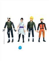 Naruto Kit 4 Bonecos Com Led E Acessorios Articulados 14cm - Sp