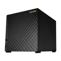 NAS Asustor 4 Bais AS3204T Celeron Quad Core 1,6GHz 2GB DDR3L Sem HD -