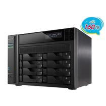 NAS asustor as6208t intel quad core j3160 1,6ghz 4gb ddr3 torre 8 baias hot-swap -