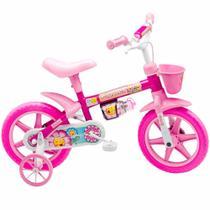 Natfor Flower Arro 12 Bicicleta Infantil Feminina Rosa Menina com Rodinhas - Nathor