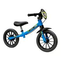 Nathor Balance Bike Masculina 03 Bicicleta de Equilibrio Infantil Aro 12 Sem Pedal Azul -